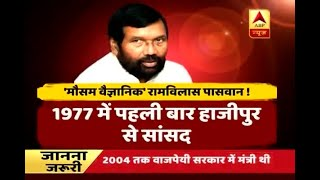I have never seen a weather expert like Ram Vilas Paswan, says Lalu Yadav - ABPNEWSTV