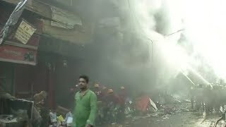 Bagri market of Kolkata gutted in fire; no injuries reported so far in the incident - NEWSXLIVE