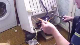 Ремонт холодильника, замена компрессора / Refrigerator repair