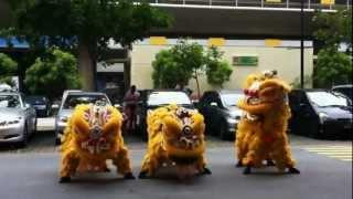 Múa lân nhảy gangnam style ở Singapore