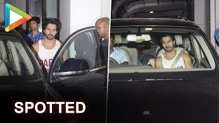 Varun Dhawan SPOTTED outside his gym where he trains for KALANK - HUNGAMA
