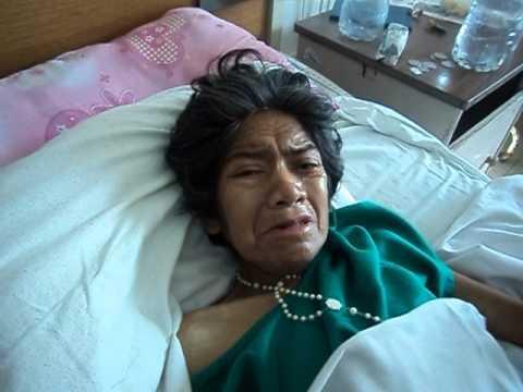 LA SEÑORA MARIA LUZ PAREJA, ESTA ENFERMA CON CANCER DE CUELLO UTERINO