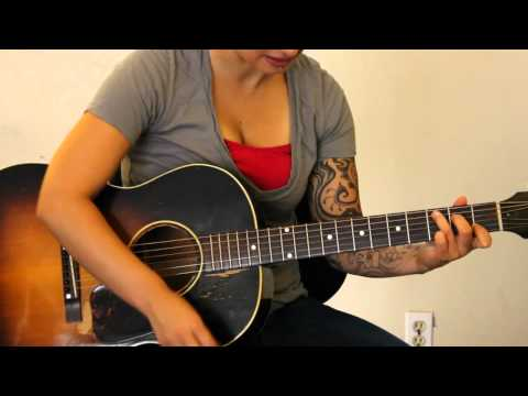 How to play Give Your Heart a Break by Demi Lovato in Eb tuning on guitar - Jen Trani