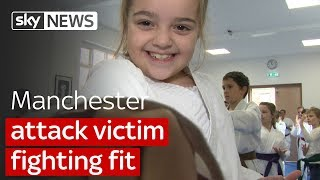 Manchester victim back to fighting fitness - SKYNEWS