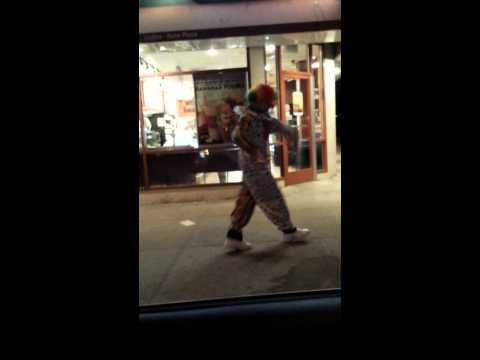 Brooklyn's Dancing clown spotted dancing in front of Dunkin Donuts