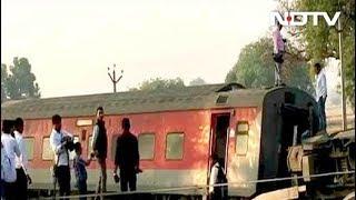 कानपुर में ट्रेन हादसा: पूर्वा एक्सप्रेस 12 डिब्बे पटरी से उतरे - NDTVINDIA