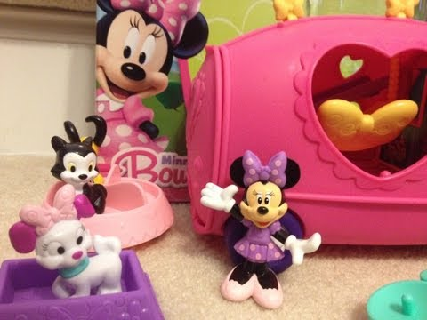 Disney Junior Minnie Mouse BowTique Pet Tour Van Playset Mickey Mouse Clubhouse Toy