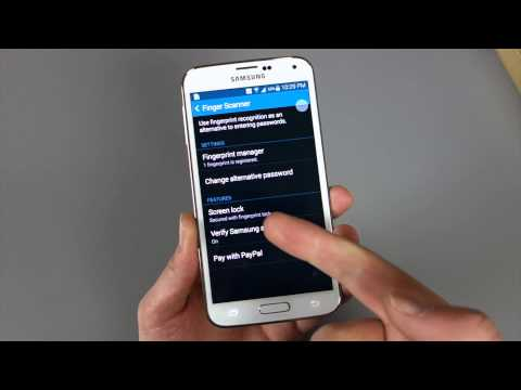 Galaxy S5 Fingerprint Scanner: Setup
