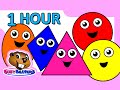 """""""Colors & Shapes DVD"""" - 1 Hour, Super Simple Colours, Little Baby Songs, Kids Learn Nursery Rhymes"""