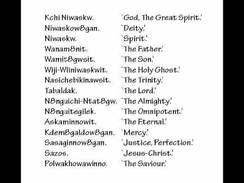 VOCABULARY OF GOD'S ATTRIBUTES