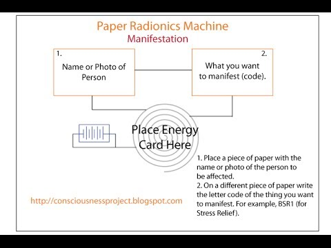 How to Use Manifestation Paper Radionics Machine for Manifesting
