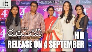 Rudrama Devi release on 4 September - idlebrain.com - IDLEBRAINLIVE