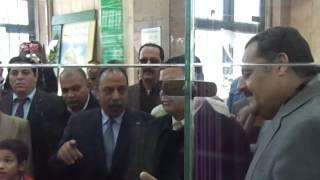 بالفيديو.. محافظ دمياط يفتتح وحدة النداء الصوتى والآلى بمكتب بريد المدينة