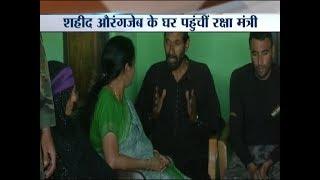 Defence Minister Nirmala Sitharaman meets with the family of martyr Sepoy Aurangzeb - INDIATV