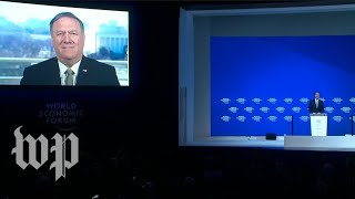 Pompeo delivers address to the World Economic Forum via satellite - WASHINGTONPOST