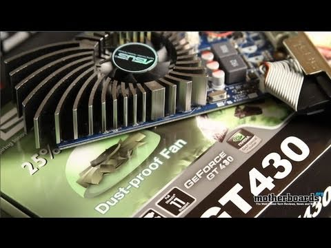 ASUS NVIDIA GeForce GT 430 1GB Video Card Unboxing and Review (ENGT430)