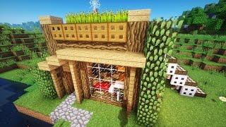 Майнкрафт: Как построить КРАСИВЫЙ СТАРТОВЫЙ ДОМ в Minecraft