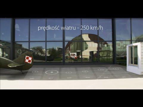 Film pokazujący pierwsze w Europie testy okien przy użyciu samolotu, testowane okna Oknoplastu