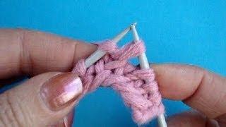 Вязание на спицах Урок32 Скрещенная лицевая петля Knitting lesson for beginners