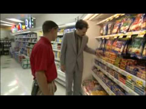 Borat at Supermarket