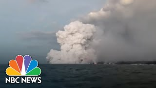 'Lava Bomb' Showers Hawaii Tour Boat With Molten Rock, Injuring More Than 20 | NBC News - NBCNEWS