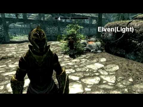 All Skyrim Armor Sets | Dragon, Daedric, Glass