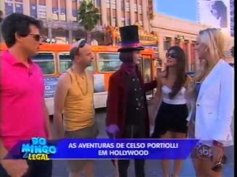 Domingo Legal - Portiolli, Bruna e Diana  visitam Hollywood, nos EUA 18/11/2012
