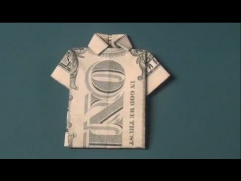 How To Make a Dollar Bill T-Shirt Origami - Fun Tutorial