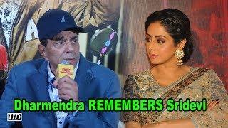 Dharmendra remembers Sridevi on her Birthday - IANSLIVE
