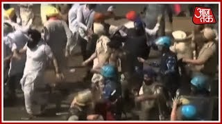 Akali Dal's Protest In Chandigarh Against Capt Amrinder Singh Govt Turns Ugly; Police Use Batons - AAJTAKTV