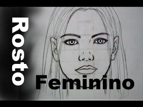 01 Frontal - Rosto Feminino - Como Desenhar!