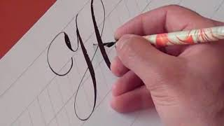 Printables The Pictures Of The Different Way To Write Capital Cursive Letter Of H how to write copperplate the letters h and youtube