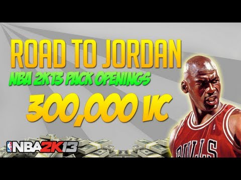 NBA 2k13 300,000 VC PACK OPENING! Road To Jordan Episode 62!
