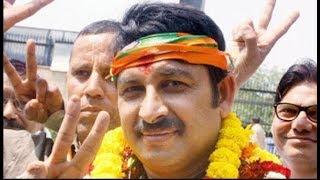 North-East Delhi's candidate Manoj Tiwari's roadshow from Yamuna Vihar to Nand Nagri in Delhi - ZEENEWS