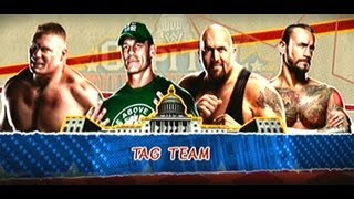 WWE Tag Team Brock Lesnar and John Cena vs C M Punk and Big Show 2/10/13