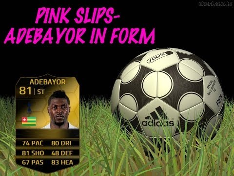 Fifa 14 Ultimate Team- Pink Slips #1- Adebayor IF [PLAYSTATION 4]
