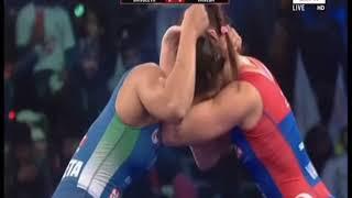 PWL 3 Day 7: Sangeeta Phogat VS Vanesa Kaladzinskaya at Pro Wrestling league season 3|Highlights - ITVNEWSINDIA