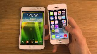 Samsung Galaxy Note vs. iPhone 5 iOS 7   Review