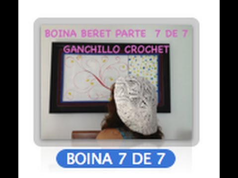 7 DE 7 COMO TEJER GORRO BOINA DISEO PIAS GANCHILLO CROCHET, DIY TUTORIAL