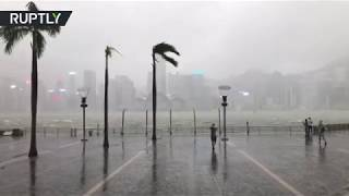 Typhoon Mangkhut hits Hong Kong, at least 100 injured - RUSSIATODAY
