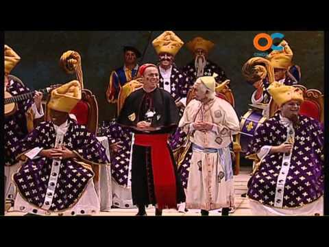 Sesión de Preliminares, la agrupación Los auténticos Carapapas actúa hoy en la modalidad de Chirigotas.