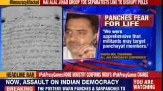 Posters in Pulwama threatens Panches to resign in four days - NEWSXLIVE