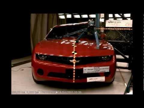 2012 Chevrolet Camaro Coupe NHTSA Side Pole Impact (NHTSA Five Star Car)