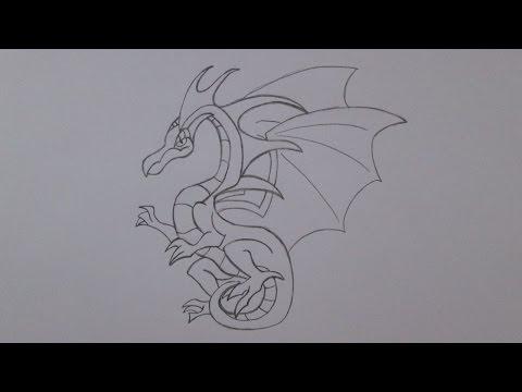 Como desenhar um dragão voador