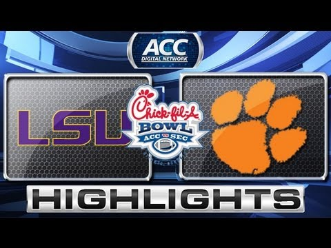 Chick-fil-A Bowl 2012: LSU vs Clemson Highlights