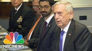 Defense Secretary James Mattis Confirms Niger Military Deaths Under Investigation | NBC News - NBCNEWS