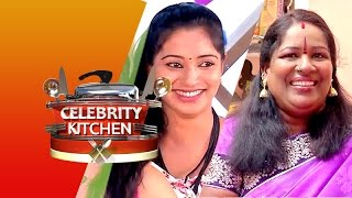 Actress Jeevitha & Singer Chinna Ponnu in Celebrity Kitchen 08-03-2015 – PuthuYugam TV Show