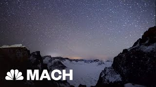 Geminid Meteor Shower Over Remote Chinese Mountains | Mach | NBC News - NBCNEWS