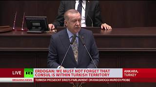 'Vicious, violent murder!': Erdogan on Jamal Khashoggi death - RUSSIATODAY