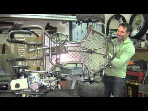 go kart home made 125 YX pitbike
